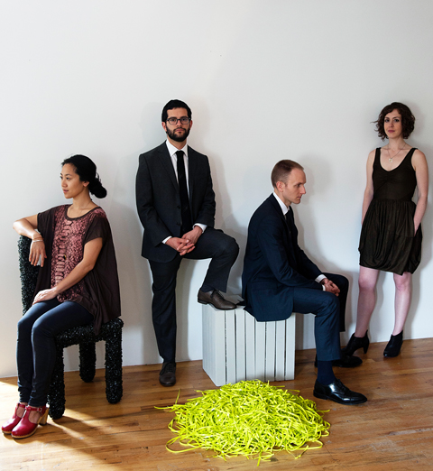 Portrait of Laura Barger, Ning Yu, Ian Antonio, Russel Greenberg