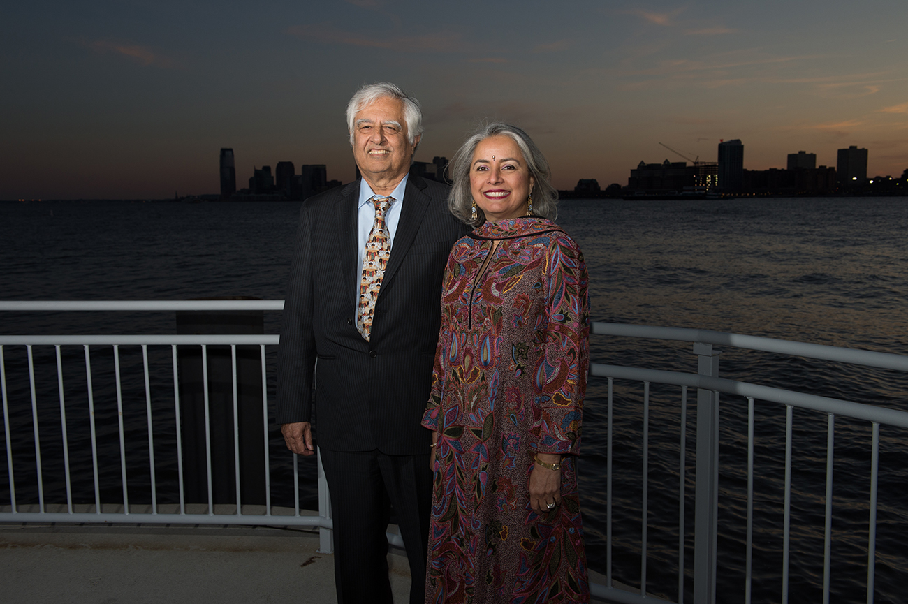 New York, NY: (4/16/14) Stars of Stony Brook Gala honored Stony Brook University faculty member Patricia Wright at Pier Sixty in New York City. In addition to raising money to support student scholarship programs, the 2014 Gala will benefit the University's work in Madagascar.  Kavita and Lalit Bahl