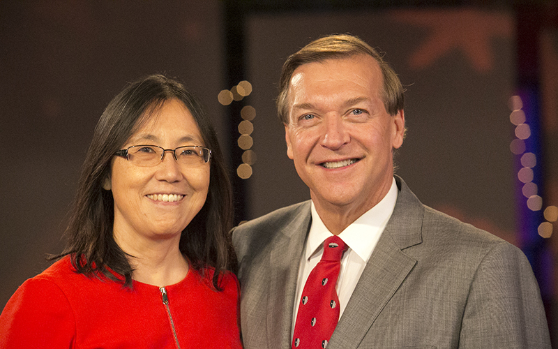 Stony Brook, NY; Stony Brook University: President Samuel L. Stanley, Jr MD and Dr. Ellen Li