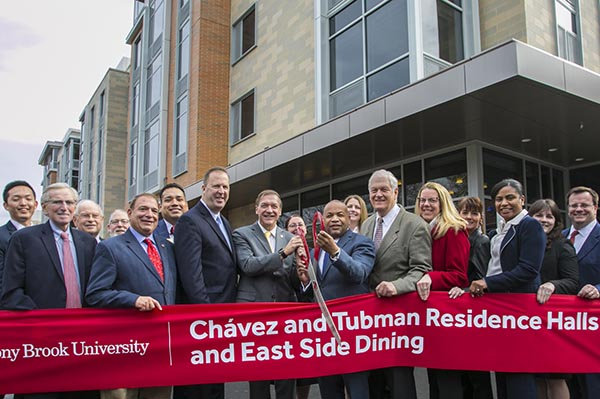 Stony Brook, NY; Stony Brook University: Ribbon Cutting for the new Cesar Chavez and Harriet Tubman Residence Halls and East Side Dining facility.