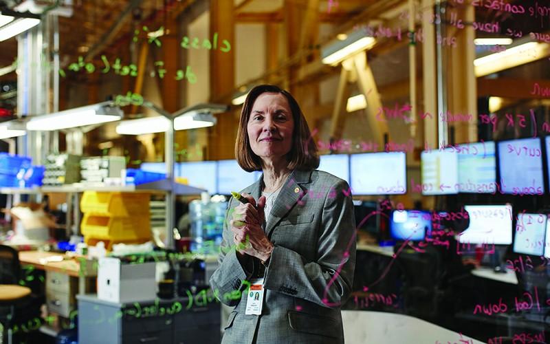 Upton, NY; Brookhaven National Lab: Esther Takeuchi doing Equations at the NSLS 2