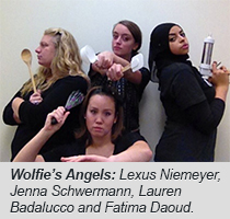 Wolfie's Angels: Lexus Niemeyer, Jenna Schwermann, Lauren Badalucco and Fatima Diaoud