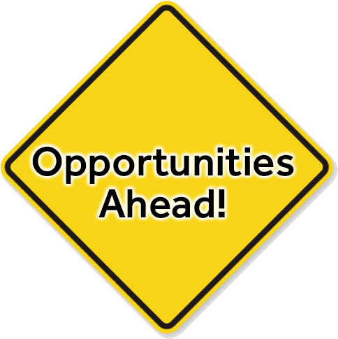 opportunities road sign