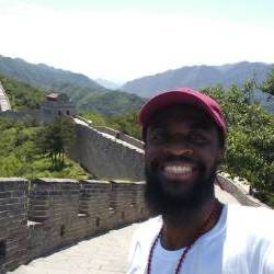 Jean Philippe Uzochi II at Great Wall of China Summer 2018 through Fullbright Fellowship.