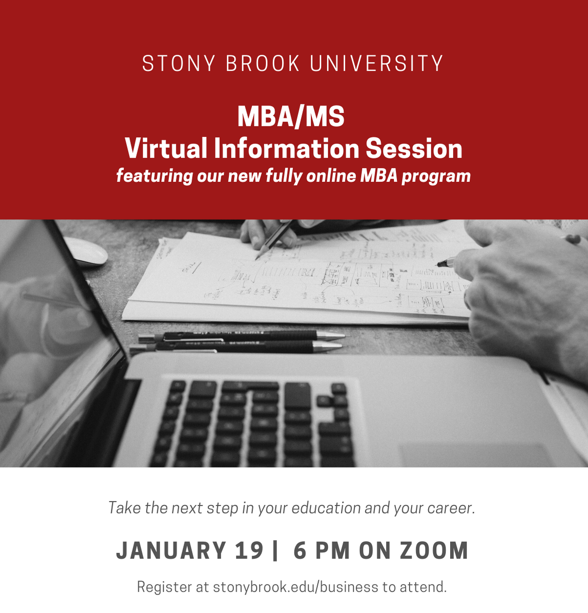 MBA/MS Virtual Information Session January 19 at 6 PM