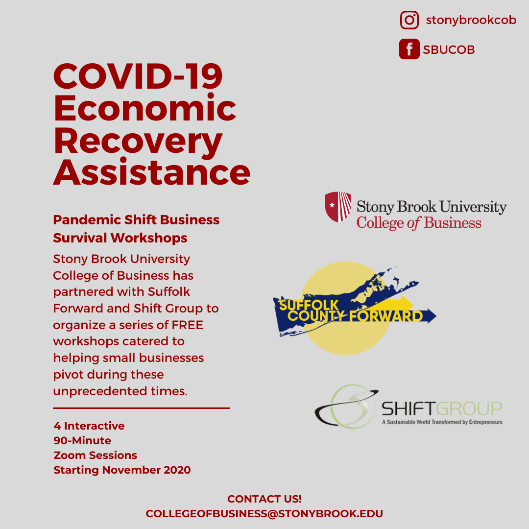 College of Business Pandemic Shift Workshops Help Small Businesses Survive - Throughout November and December