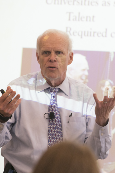 "From Stony Brook to Stanford and Silicon Valley: Stories from a 45-year Journey,"" Distinguished Alum John Hennessy returns to Stony Brook"