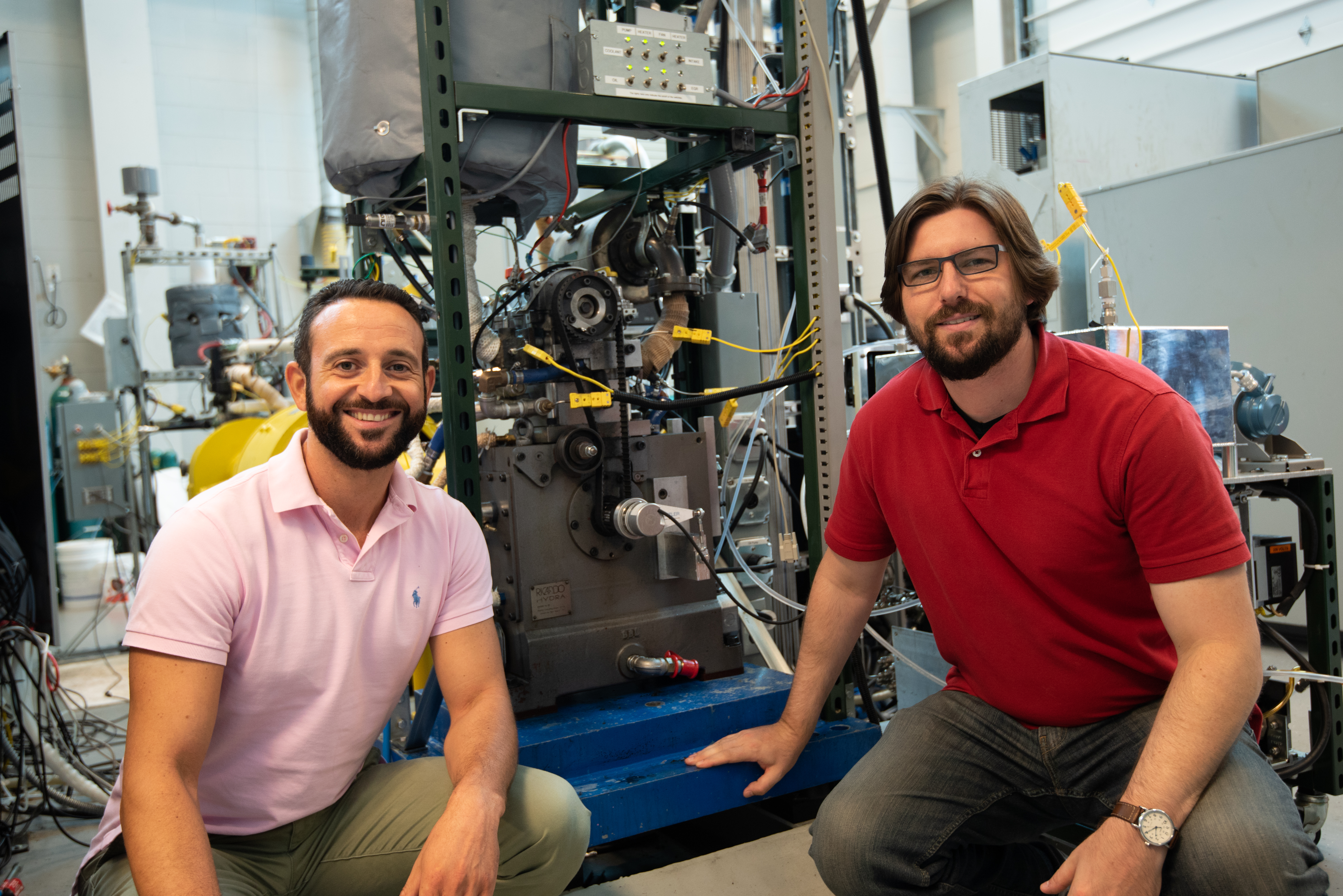 Professors Sotirios Mamalis and Ben Lawler in the Department of Mechanical Engineering