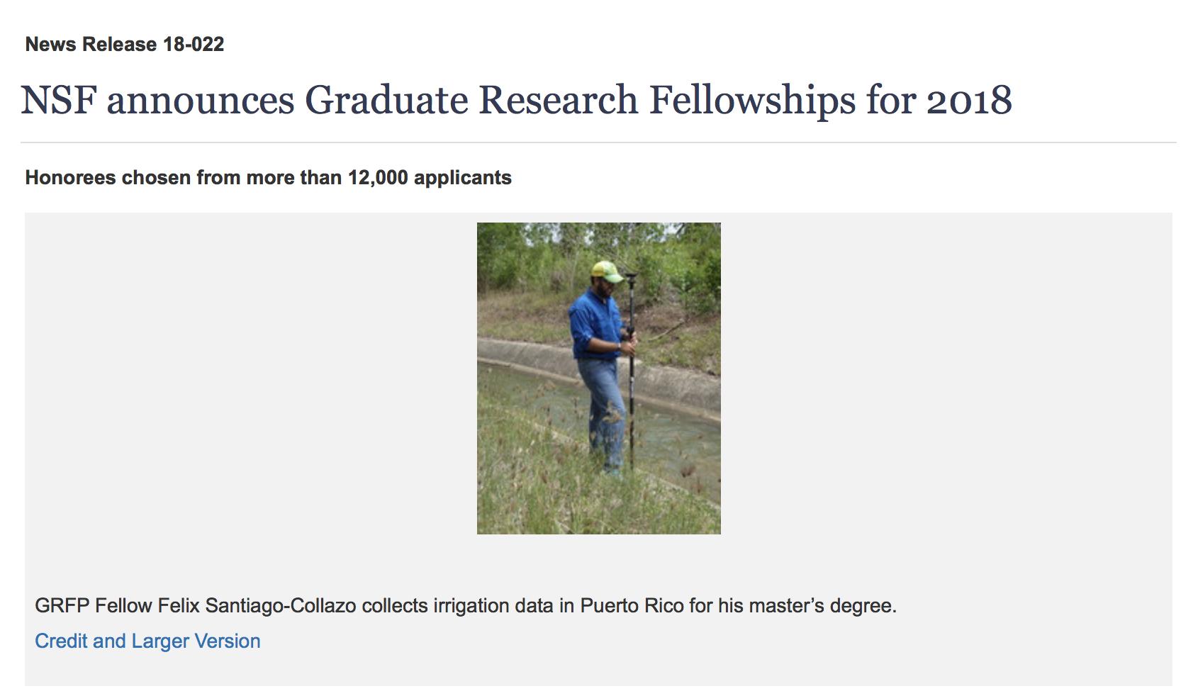 Morgan DiCarlo '16 Awarded Prestigious NSF Graduate Research