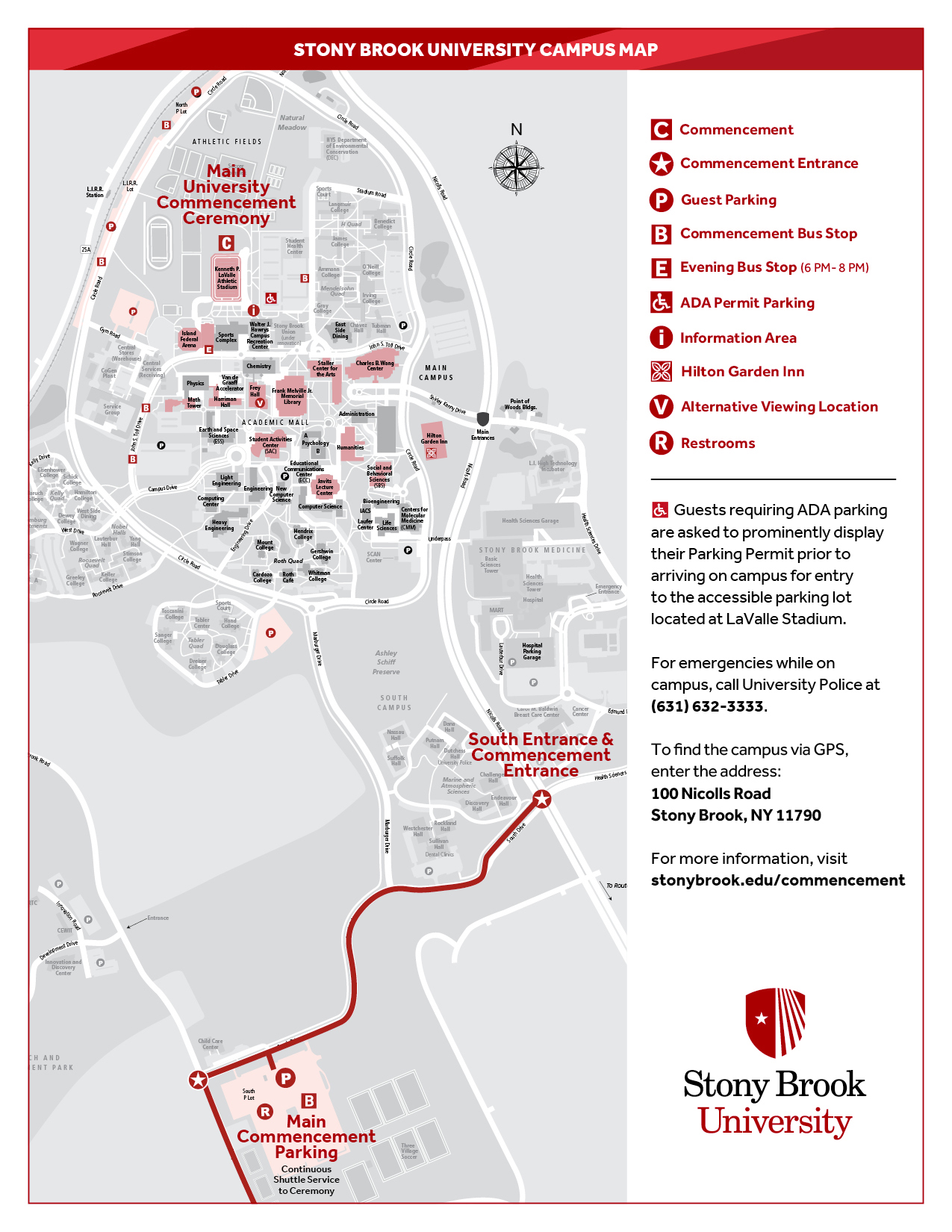 campus map stony brook For Families Commencement campus map stony brook