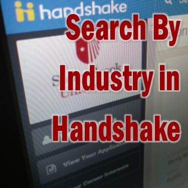 industry search in handshake