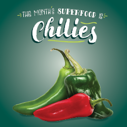 This Month's Superfood is Chilies | Learn More with Your CulinArt Registered Dietitian