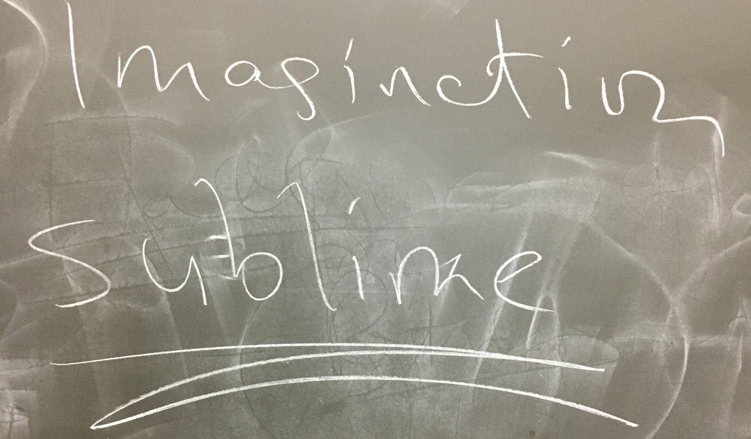 "RRP Poetry Blackboard: ""Imagination / Sublime"""