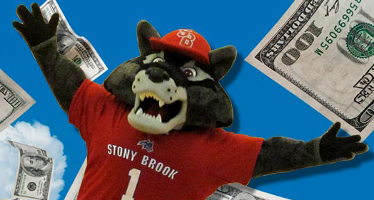 Wolfie with some dollars