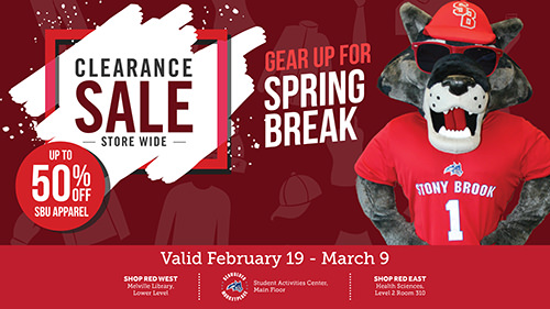 Store Wide Clearance Sale at all 3 campus stores