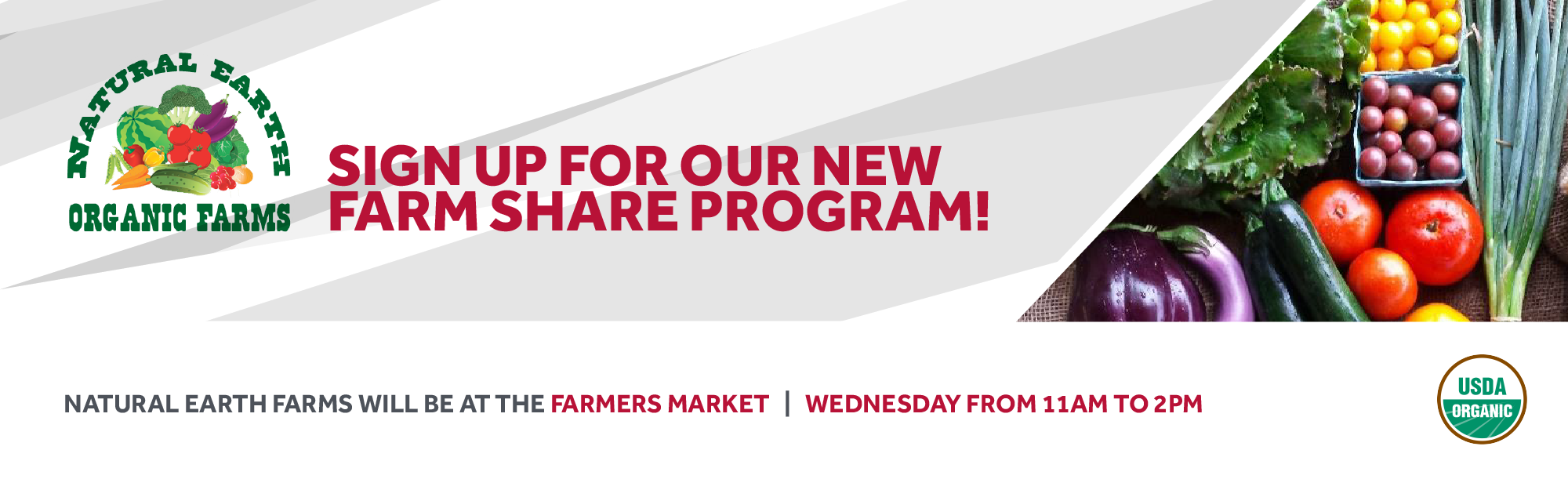 Sign up for the Farm Share Program