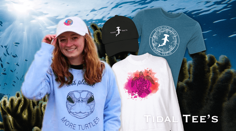 SYDNEY BELL '23 MAKES A SPLASH WITH SUSTAINABLE DESIGNS ON CAMPUSFreshman Sydney Bell is making history as she creates and sells eco-friendly apparel to help save the oceans.Tidal Tee's Apparel is available at Shop Red West and Shop Red East