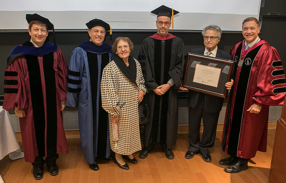 Mr. and Mrs. Tsantes, Prof. Panou with President Stanley, Provost Bernstein and Dean Kopp