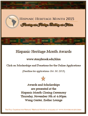 Free Talk Wednesday November 5th In >> Calendar Of Events 2015 Hispanic Heritage Month