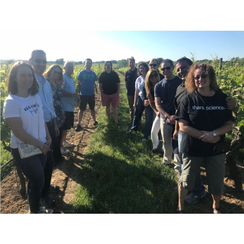 New York State Master Teachers enjoyed a field trip to the Palmer Vineyards to learn the science of wine making.