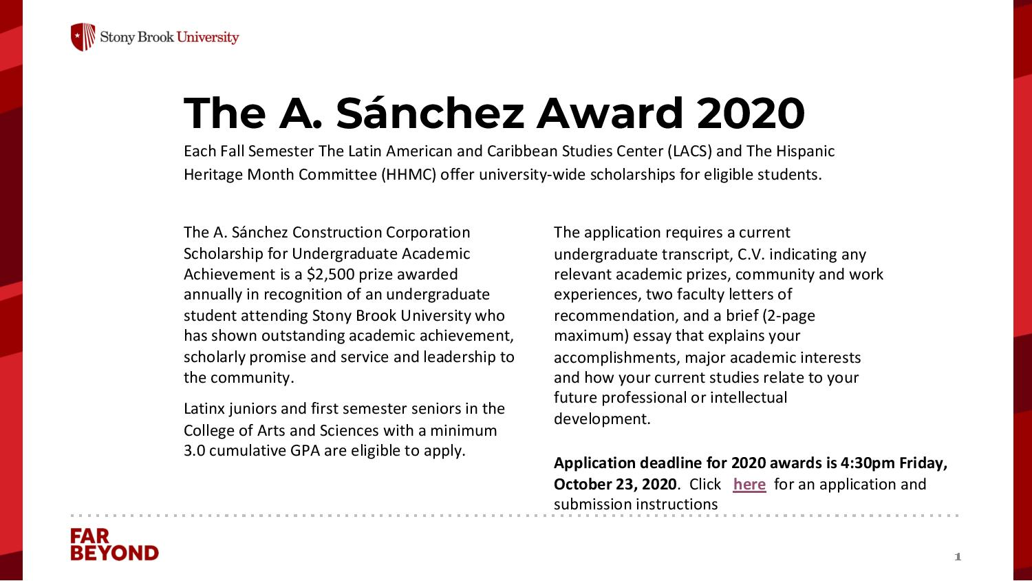 sanchez award
