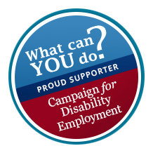 ampaign for Disability Employment (CDE) supporter badge linked to the CDE home page