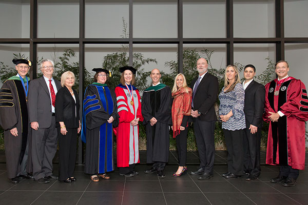 president stanley at the Knapp investiture ceremony