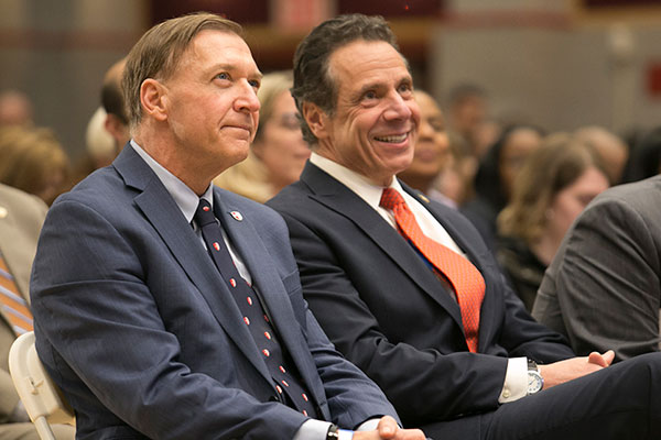 governor cuomo and president stanley