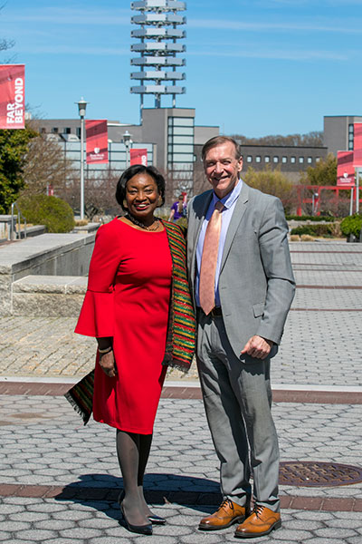 president stanley and andrea stewart cousins