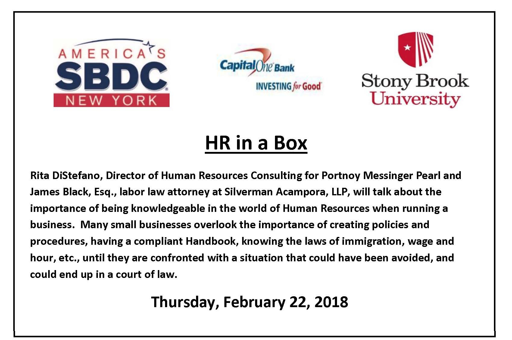 hr in a box