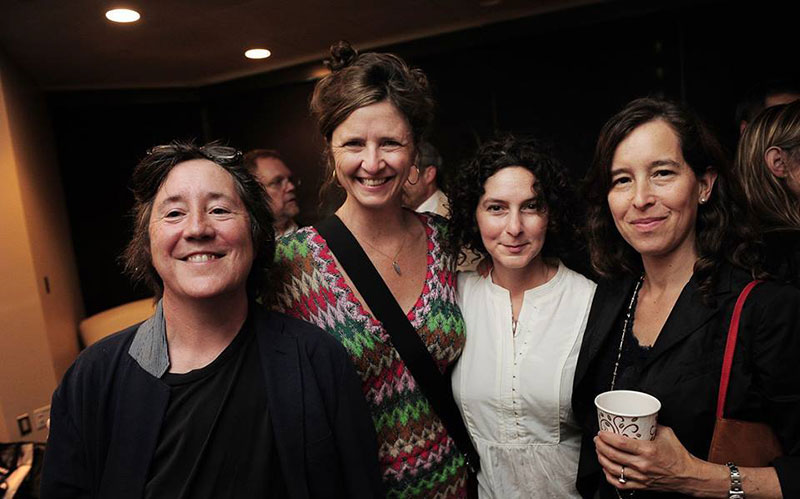 Christine Vachon, Magdalene Brandeis, Simone Pero and Pamela Koffler, left to right