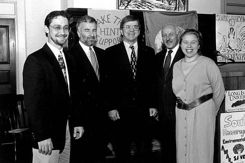 From left: Robert DeLuca, Tim Bishop, Fred Thiele, Ken LaValle and Jodi Gru.