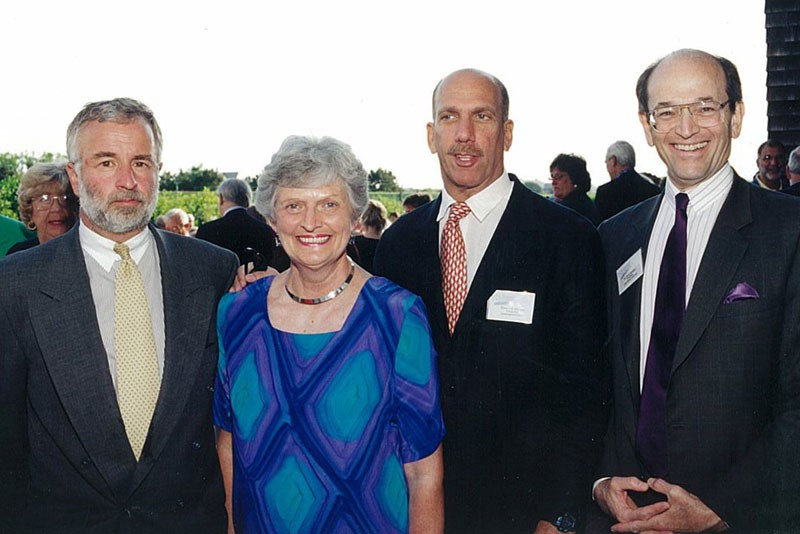 Tim Bishop, Mary Welker, Robert FX Sillerman and David Steinberg in an undated photo.