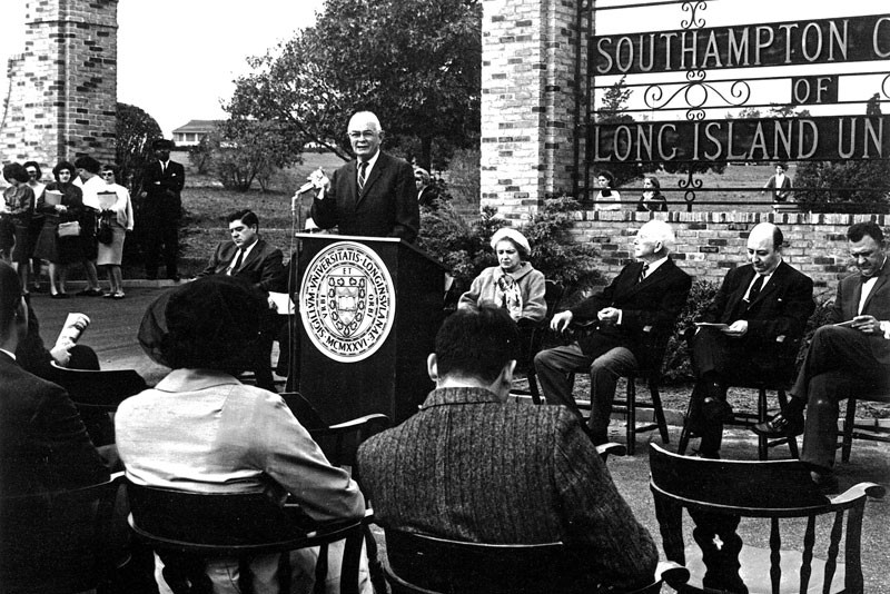 Campus ceremony, 1963.