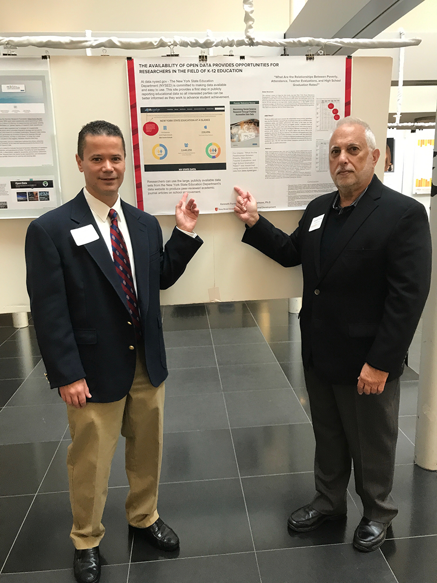 Markson and Forman display their research