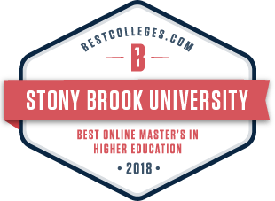 Best Online Master's in Higher Education Badge from Best Colleges.com