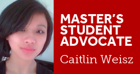 Master's Student Advocate Caitlin Weisz