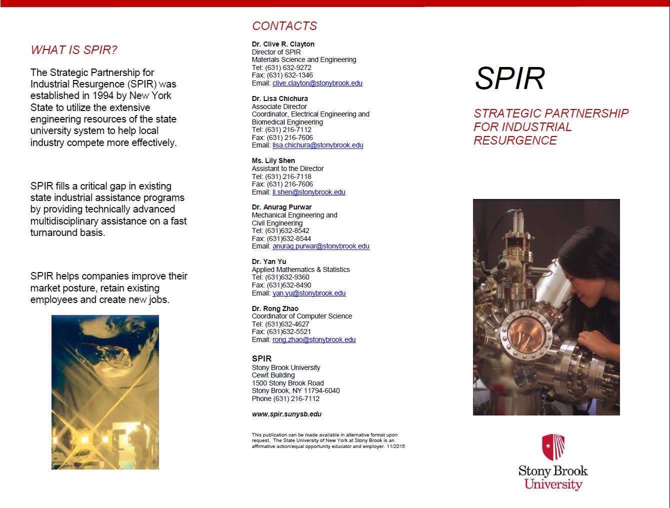 Download Our SPIR Brochure