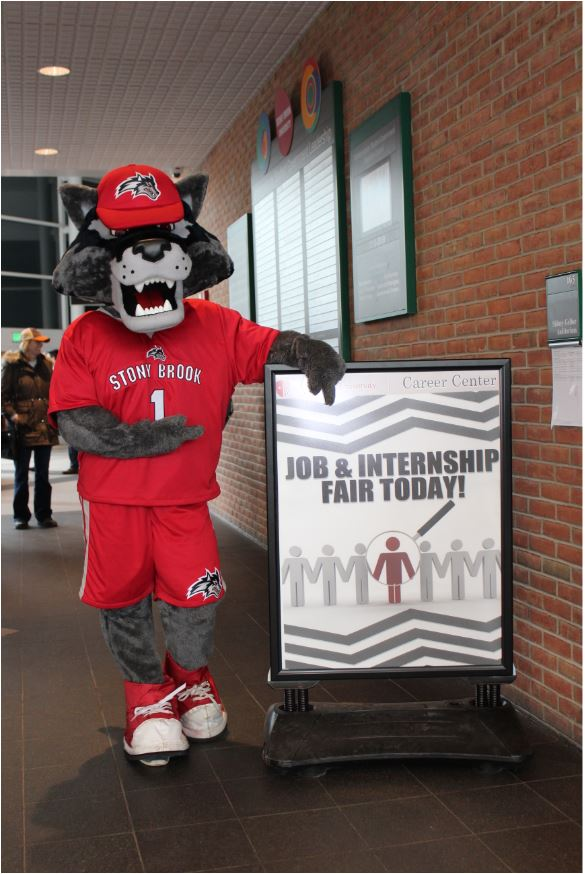 Wolfie at A Job Fair