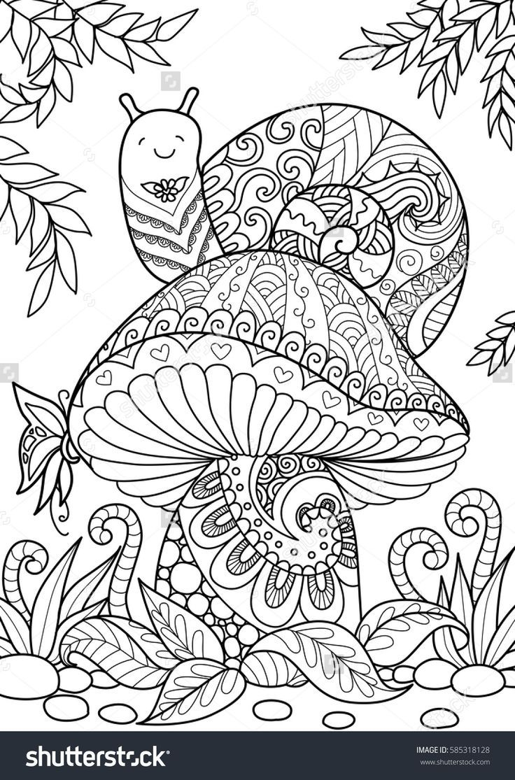 Coloring Sheet - Snail