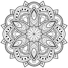 Coloring Sheet- Mandala