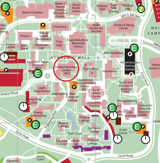 campus map stony brook Directions Student Centers campus map stony brook
