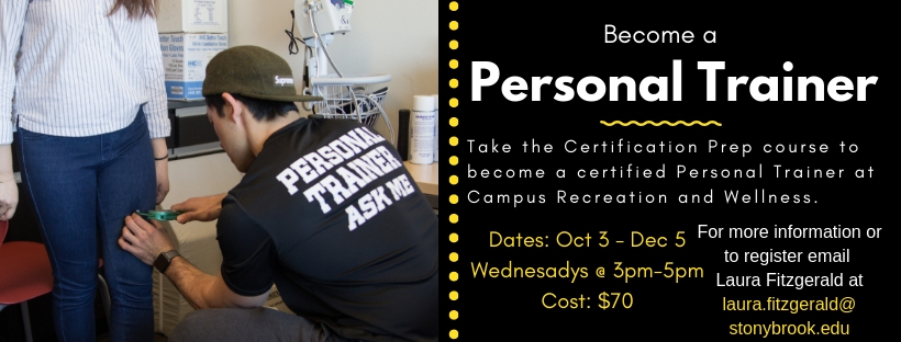 become a personal trainer course ad