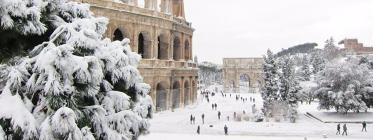 winter in rome image