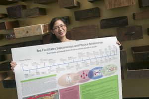 Amy Dang with poster