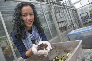 Joy and the Life Sciences Greenhouse