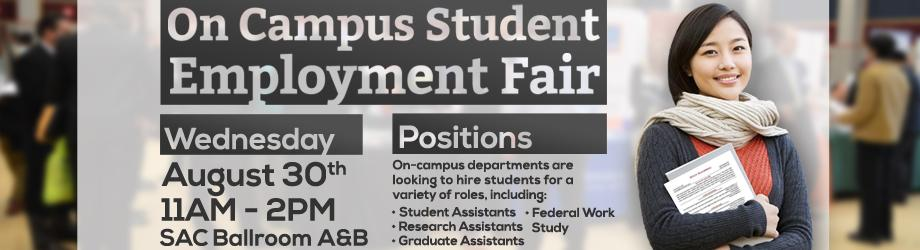 On Campus Student Employment Fair