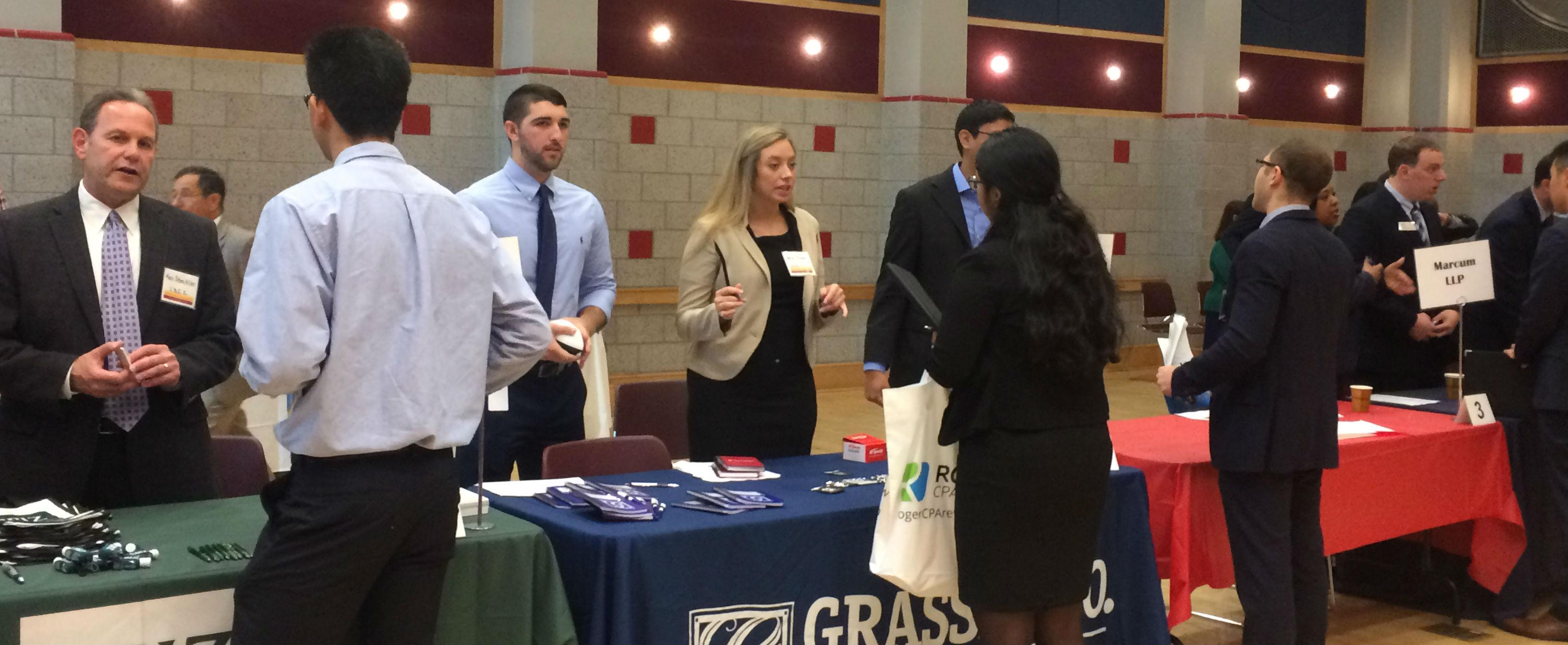 Accounting Students Make Connections with Firms at Annual Event