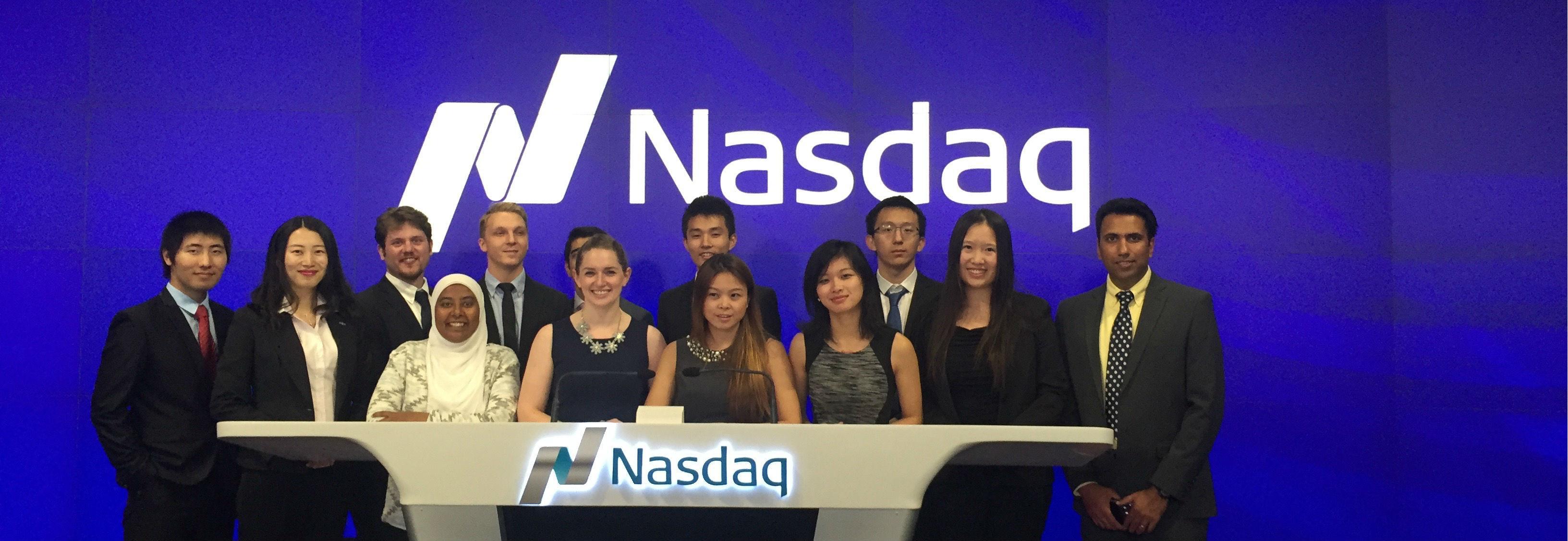MBA Students Take Their Annual Trip to NASDAQ