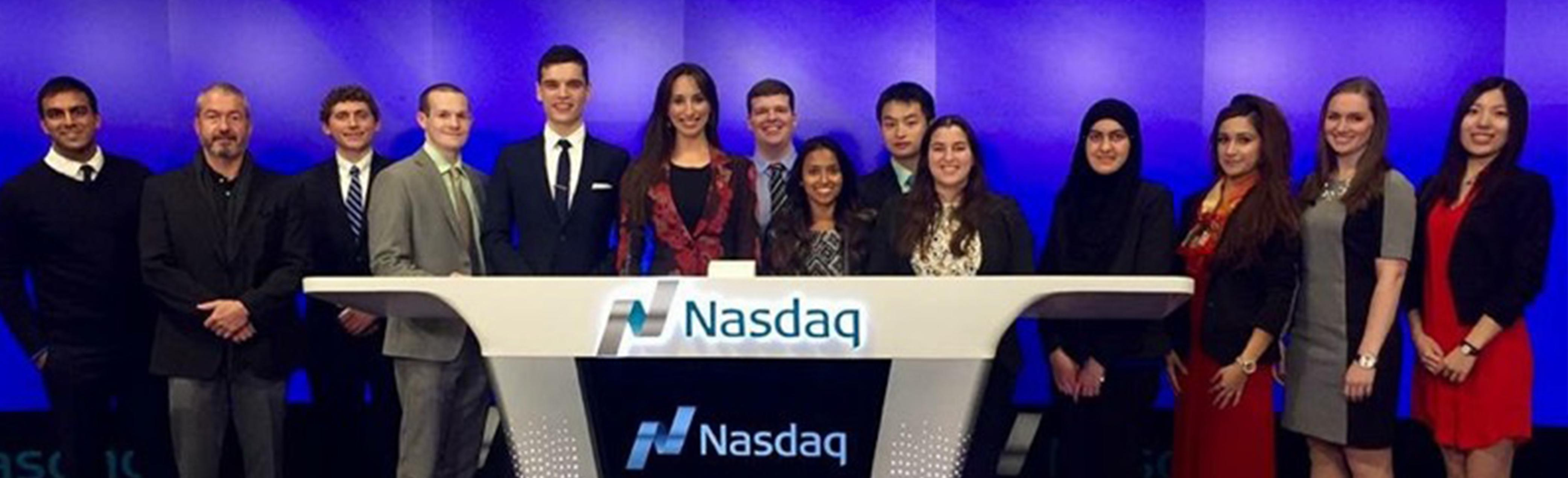 MBA Association Attends Closing Bell Ceremony at NASDAQ